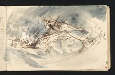 Joseph Mallord William Turner 'Study for 'The Shipwreck'', c.1805