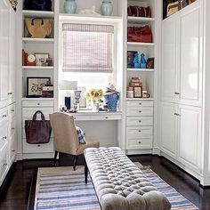 Walk in robe with makeup vanity - Google Search