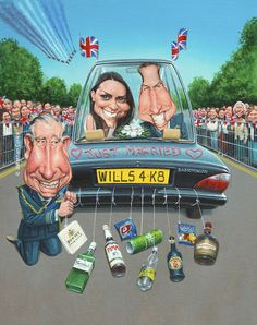 This is a caricature of The Royal Wedding of the Prince William and now Princess Kate Middleton in April 2011.