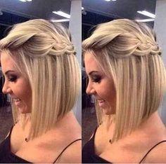 Resultado de imagem para penteado festa cabelo curto chanel