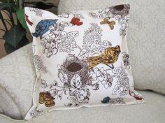 Bird Throw Pillow Cover Decorative Pillow by asmushomeinteriors, $26.95