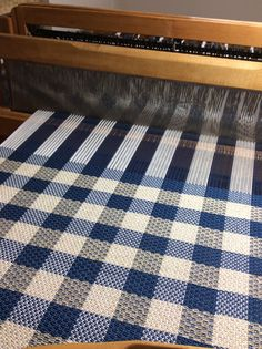 "Kitchen towels woven on a 22"" Gilmore."
