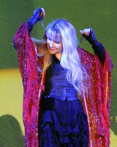 Stevie  ~ ☆♥❤♥☆ ~   rocking it in red, performing at Chastain Park Amphitheater on August 17th, 2011 in Atlanta, Georgia