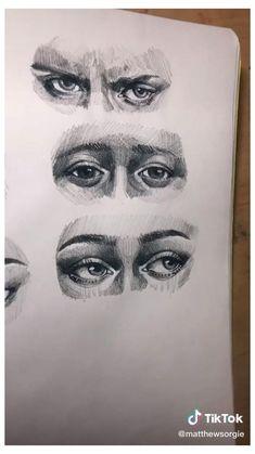 Art Drawings Sketches Simple, Pencil Art Drawings, Realistic Drawings, Biro Drawing Sketches, Sketches Of Eyes, Drawings Of Eyes, Drawing People Faces, Eye Sketch, Amazing Drawings