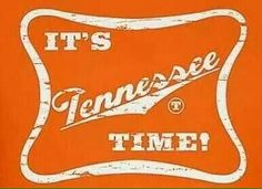 It's Tennessee Time! Tennessee Volunteers Football, Tennessee Football, Memphis Tennessee, Vol Nation, Pat Summitt, Tn Vols, Tennessee Girls, Sounds Good To Me, University Of Tennessee