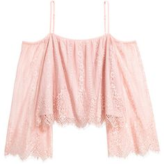 Lace Off-the-shoulder Blouse $29.99 ($30) ❤ liked on Polyvore featuring tops, blouses, long sleeve blouse, pink blouse, short-sleeve blouse, lace off the shoulder top and pink lace top