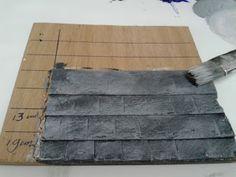 How to: Making miniature roof-slates.