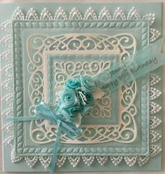 Cotswold Crafter: Beautiful Birthday wishes from Brenda
