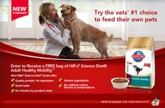 Enter to Win a Free Bag of NEW Hill's Science Diet Adult Healthy Mobility Dog Food