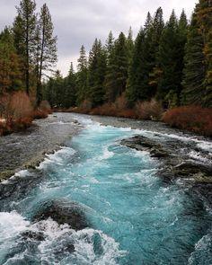 Wizard Falls on the Metolius River in Central Oregon. ------------ @bentknee