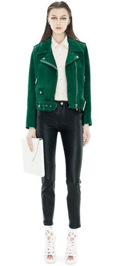 Acne - Mape Suede Green jacket