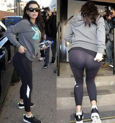 Pregnant Kim Kardashian's Workout Pants turn See-through under Camera Flashes