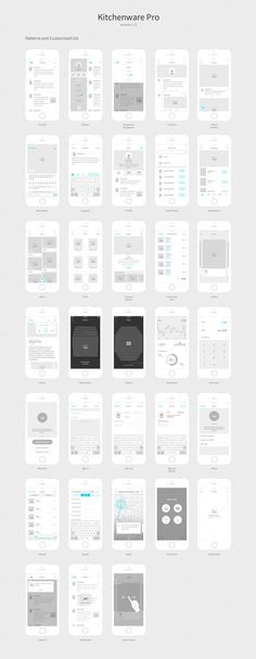 Freebie  Free Vector UX   UI Wireframe Kit   Free stuff   Pinterest     Kitchenware Pro   iOS Wireframe Kit by Neway Lau on Creative Market