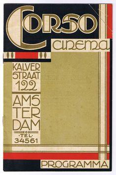 Programmaboekje Corso Cinema; J.A. Luii & Co ca. 1925