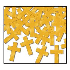 Religious Party Fanci-Fetti Crosses gold (12 Packs)