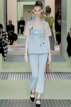 A look from Prada's fall-winter 2015 collection