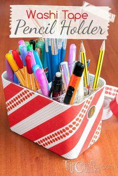 TitiCrafty by Camila: DIY Washi Tape Pencil Holder