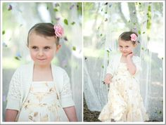 Flower backdrop for outdoor school portraits by Shutter Starr Photography