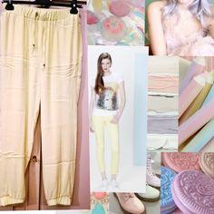Light yellow Motivi Italy pants for a fresh look in Spring Summer 2016 ----- Pantaloni giallo chiaro Motivi per un look Primavera Estate 2016 fresco ed informale     #moda #fashion #sping2016 #summer2016 #primavera2016 #estate2016 #trend #outfit #sale #shopping #pants #pantaloni #giallo #italy