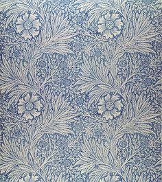 William Morris, Marigold wallpaper design, 1875
