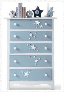 Boys blue chest of drawers with gorgeous white star design