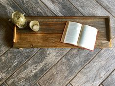 Rustic tub tray, reclaimed wood tray, up cycled barn wood, Wood bath caddy, Father's Day gift, gift for her, anniversary gift,  industrial by RusticPineCreation on Etsy https://www.etsy.com/listing/515063354/rustic-tub-tray-reclaimed-wood-tray-up