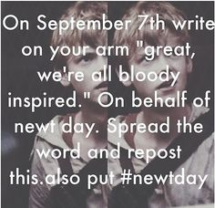 Yes #newtday.. wait why NEWT DAY<< Because Newt needs to be appreciated! pass it on