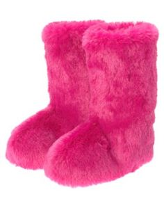 Original Fluffy Wuffies White Faux Fur Boots Fuzzy Fluffy Big Fur Fluffy Fuzzy Furry Boots