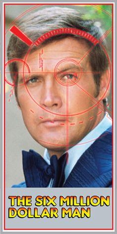 Lee Majors as Steve Austin (The Six Million Dollar Man) 1970s Tv Shows, Old Tv Shows, Lee Majors, Vintage Tv, Vintage Stuff, Million Men, Bionic Woman, All Tv, Great Tv Shows
