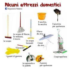 Alcuni attrezzi domestici #learnitalian #learningitalian #impariamoitaliano