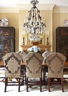 the chairs and chandelier say it all...