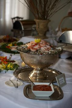 Such a nice touch! Seafood Tower, Raw Bars, V60 Coffee, 50th, Catering, Vintage Inspired, Bridal Shower, Dream Wedding, Touch