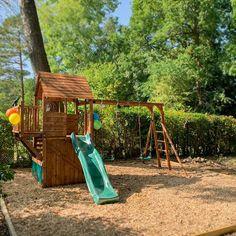 Wooden Climbing Frame, Climbing Frames, Buried Treasure, Garden Buildings, Heart For Kids, Play Houses, Amazing Gardens, Cabin, Fun