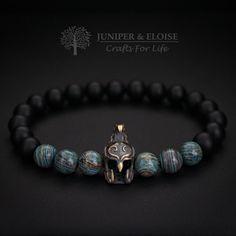 Casque de Spartan Bracelet Bracelet homme par JUNIPERANDELOISE