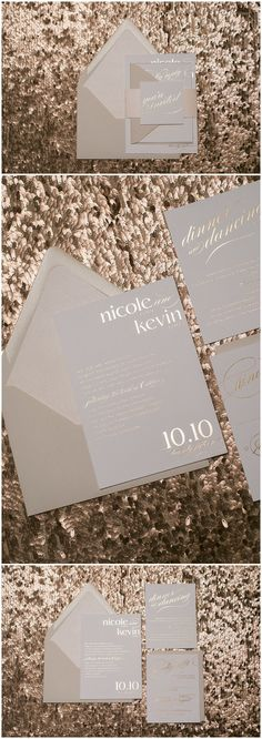 Rose Gold and Blush Neutral Color Scheme Wedding Invitations | rose gold foil, rose gold, romantic styling, romantic, neutral, neutral color scheme, blush, modern, wedding invitations, foil stamping, foil stamped