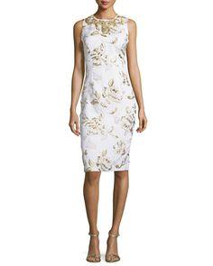 379f6e38 B3DCT Ralph Lauren Collection Georgia Baroque Silk Brocade Sheath Dress,  Petrol/Multi | Clothing | Dresses, Brocade dresses, Silk brocade