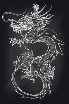 Chinese Dragon on Chalkboard # Chalkboard # Background # Chinese # Dragon - Chinese . - Chinese dragon on blackboard # blackboard # background # Chinese # dragon – Chinese dragon on bla - Chinese Dragon Drawing, Japanese Dragon Tattoos, Dragon Tattoo Drawing, Tattoo Drawings, Dragon Tattoo On Hand, Dragon Drawings, Dragon Tattoo For Women, Dragon Tattoo Designs, Dragons