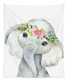 Boho Elefant Wandkunst Tapisserie Aquarell Zoo Safari Tier Baby Kinderzimmer Stoff Little Girls Room Aquarell Baby Boho Elefant Kinderzimmer Safari Stoff Tapisserie Tier Wandkunst Zoo Safari Animals, Baby Animals, Cute Animals, Baby Hippo, Wild Animals, Elephant Wall Art, Elephant Nursery, Elephant Canvas, Elephant Fabric