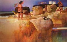 クレモ二ーニの水辺 LEONARDO CREMONINI Claude Bernard, Milan, Italian Painters, Painting People, Leonardo, Contemporary Paintings, Figurative Art, Salvador Dali, Painting & Drawing