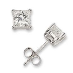 Princess cut diamond earrings (not too big) are perfect for every day wear.