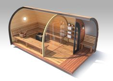 This is the ultimate in garden room one-upman-ship, so if you fancy making your neighbour go green with envy, then this Sauna pod from UK-based Garden Hideouts (0044-128 3707357, gardenhideouts. co.uk), may be just the thing. It costs about €20,600, ex delivery.