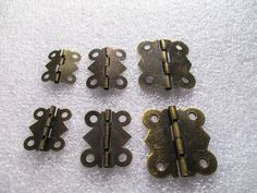Boxes Cases Box Hinge Antique Brass sizes 17x20, 20x24, 27x29mm for boxes #Jaszitupleatheraccents  a new listing for these cute hinges, now in 3 sizes, they only open 90deg to 210degs for the 17x20mm and 90deg to 240degs for the 20x24mm and 27x29mm. Great for small gift boxes and jewelery cases.