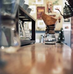 """Chemex coffee"" by caleblewis, I've been using one of these for awhile now & I love the flavor"