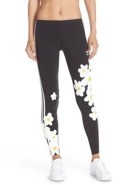 adidas Originals 'Kauwela' Print 3-Stripes Leggings available at #Nordstrom