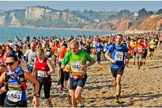 March: the Grizzly - a demanding 20 mile race starting and finishing in Seaton and crossing pebble beaches and the gruelling ups and downs of the East Devon coast path. www.axevalleyrunners.org.uk/grizzly/ Seaton | East Devon | England