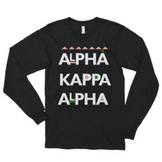Martin Inspired Alpha Kappa Alpha Sorority Incorporated UNISEX Longsleeves - Black / M
