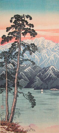 Watanabe Shotei Title:Mt. Shirane from Nikko Date:c.1936