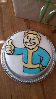 My cousin turns 17 today and is hiding upstairs playing Fallout Teen Boy Cakes, Cakes For Boys, Boy Birthday Parties, Birthday Cakes, My Cousin, Sugar Art, Cakes And More, Cake Decorating, Decorating Ideas