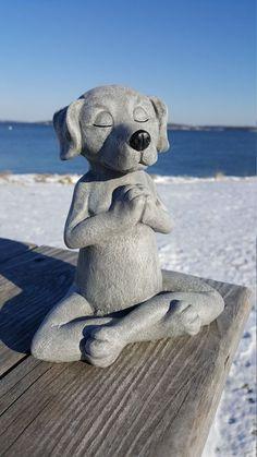 Dog Buddha Meditating Dog Statue Yoga Dog Garden by FireKDesigns