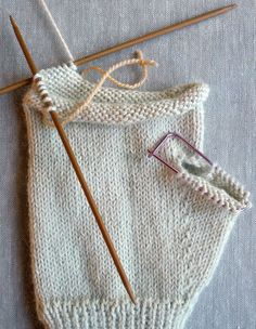 Thumb gusset tutorial - Gem Gloves | The Purl Bee                              …